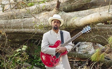 Blues musician Vasti Jackson's studio was destroyed by this tree